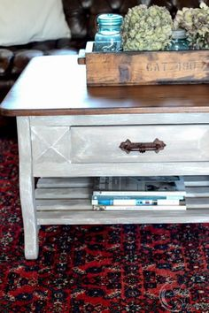 Chalk Paint and Industrial Crate - creating the Restoration Hardware ...
