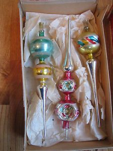Antique Glass Christmas Tree Ornaments