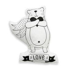 Soft Toy / Cushion . Bear Love / Dream