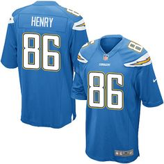 Men's Nike Los Angeles Chargers #86 Hunter Henry Game Electric Blue Alternate NFL Jersey nfl jersey 4t