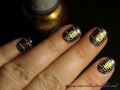 sparkly tribal nails