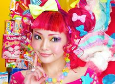 'Decora' style from Harajuku, Japan, is famous for its' #rainbowhair. Discover what makes this unique style, and how to create the decora rainbow hairstyles. Featuring two photos shoots from the iconic Harajuku fashion and lifestyle brand 6%DOKIDOKI.  Read more: https://www.rainbowhaircolour.com/decora-rainbow-hairstyles-harajukus-6dokidoki/#.UuzLT3ccnSA