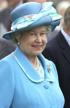 Queen Smiling....Caption:....BEVERLEY, UNITED KINGDOM - JULY 12:.... Queen Elizabeth II Continuing Her Jubilee Tour At Beverley Race Course For The Champagne Victor Queen's Golden Jubilee Handicap Stakes.....