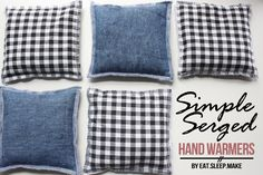 Simple Serged Hand Warmers DIY - The Sewing Rabbit