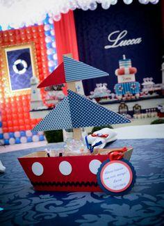 Centro de mesa festa marinheiro www.lembrancinhacriativa.com.br