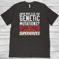 Genetic Mutations Superheroes T-Shirt Autism Awareness Genetic Disorder T-Shirt Disability Chromosome DNA Mutation Men and Women T-Shirt