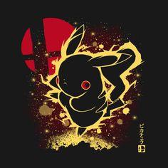 Check out this awesome 'The+Thunderbolt' design on Pikachu Memes, Pikachu Art, Super Mario Art, Mickey Mouse Wallpaper, Shadow Art, Video Game Art, Disney Fun, Cool Artwork, Cartoon Art