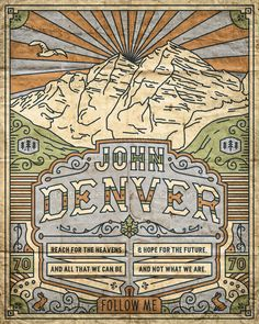 John Denver Poster by Wade Ryan on CreativeAllies.com Beautifully done!