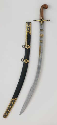 Kilij Sword with Scabbard.       Dated: Blade A.H. 957/ A.D. 1550–1551; mountings, 18th century     Culture: Turkish. |   Copyright 2014 © The Metropolitan Museum of Art