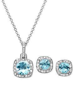 7ec9364e44de Sterling Silver Earrings and Necklace Set
