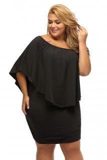 ec70ab75d45 Plus Size Black Mini Dress Club Dresses