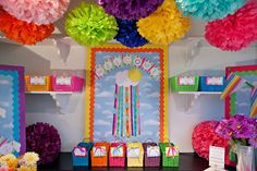 ahh a rainbow classroom :) sooo fun! might have to try this