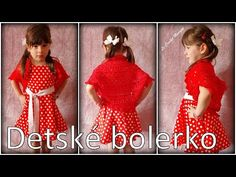 Háčkované detské bolerko/Crocheted girly bolero (english subtitles) - YouTube Short Sleeve Dresses, Dresses With Sleeves, Crochet, Girly, English, Youtube, Fashion, Women's, Moda