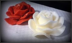 Lovely rose-candles! (Handmade)