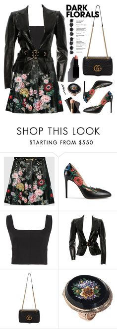 """""""Winter Prints: Dark Florals"""" by deepwinter ❤ liked on Polyvore featuring Gucci, Saloni, Garance Doré and darkflorals"""