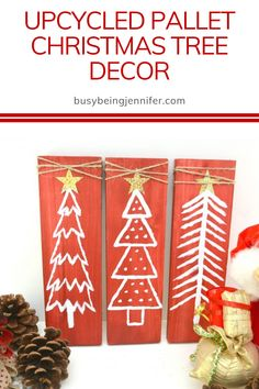 I love to get creative this time of year and add new DIY holiday decor to the mix… like this Upcycled Pallet Christmas Tree Decor! Pallet Christmas Tree, Christmas Projects, Christmas Tree Decorations, Holiday Decor, Simple Christmas, Handmade Christmas, Diy Christmas, Upcycle, Easy Diy