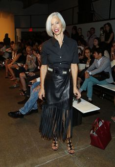 Linda Fargo Photos Photos - Vice President of Visual Merchandising at Bergdorf Goodman Linda Fargo attends the Wes Gordon fashion show during Mercedes-Benz Fashion Week Spring 2015 at Highline Stages on September 5, 2014 in New York City. - Wes Gordon - Front Row - Mercedes-Benz Fashion Week Spring 2015