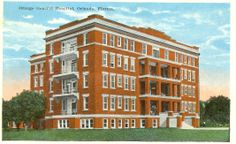 Postcard of Orange General Hospital - I was born here later when it was Orange Memorial Hospital!