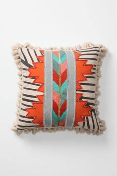 The Jacinto Pillow gives the geometric trend a Native American twist