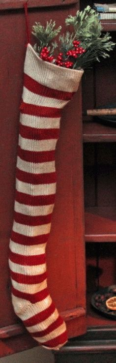 Red & white stocking <3
