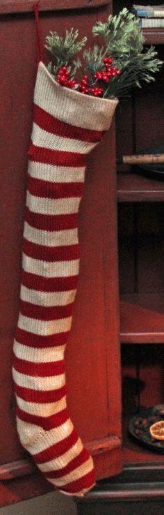 Red & white stocking <3