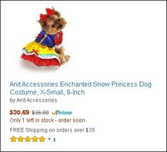 Anit Accessories Enchanted Snow Princess Dog Costume, X-Small, Princess Dog Costume, Cute Dog Costumes, Super Cute Dogs, Four Legged, Enchanted, Winnie The Pooh, Teddy Bear, Snow, Accessories