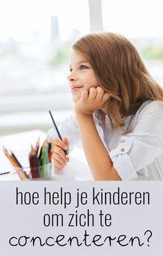 Hoe help je kinderen bij het concentreren? Co Teaching, Teaching Ideas, Educational Crafts, Family Organizer, Teacher Tools, School Hacks, Kids Learning, Parenting, Experiment