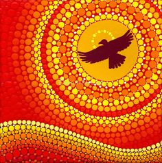 «sun illuminating eagle spirit medicine» de Elspeth McLean