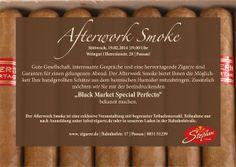 Die Garantie für einen perfekten Feierabend. Afterwork Smoke im WEINGUt Passau. Special Guest: Black Market Special Perfecto.