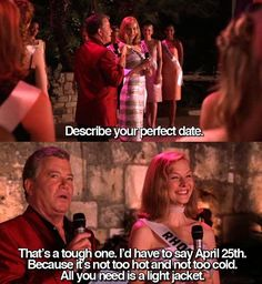 Miss Congeniality - Perfect date - April 25th