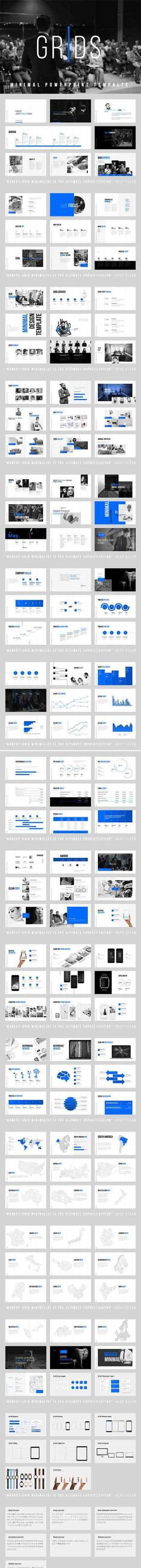 CreativeMarket - Grids-Minimal Powerpoint Template Hackerzpalace - slip template