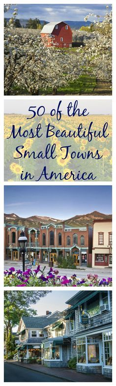 We love small towns, so we've rounded up the cutest village in every single state. Road trip anyone?