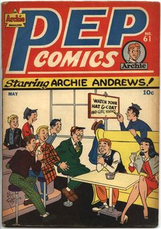A cover gallery for the comic book Pep Comics Archie Comics Characters, Archie Comic Books, Comic Book Characters, Comic Books Art, Comic Art, Archie Betty And Veronica, Archie Comics Riverdale, Vintage Comics, Vintage Ads