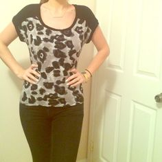 Black Top Size M Tops