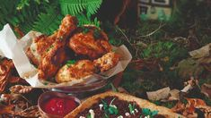 Clare Anne O'Keefe created a hearty fried chicken recipe inspired by the famous tale Hansel and Gretel. Chicken Legs, Chicken Thighs, Fried Chicken, Tandoori Chicken, Full Fat Milk, Fresh Chives, Beetroot, 4 Ingredients, Gingerbread