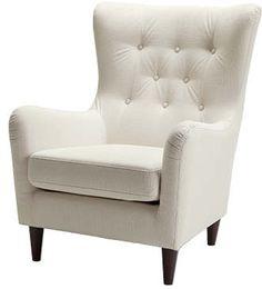 Deutsche Gemütlichkeit - Sessel: ecrufarbener Bezug Amici - kolonialfarbene Füße -  Produktnummer: 333376-379-10-200