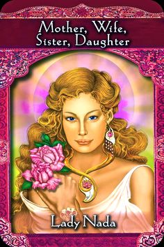 Lady Nada, from the Ascended Masters Oracle Card deck, by Doreen Virtue, Ph.D