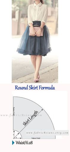 How to sew round skirt? Circle Skirt Pattern, Skirt Pattern Free, Circle Dress, Skirt Patterns Sewing, Sewing Patterns Free, Circle Skirts, Pattern Sewing, Sewing Tutorials, Sewing Projects