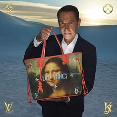 The Master and the Mona Lisa: Jeff Koons with Da Vinci from Masters his new collaboration with #LouisVuitton. Now available exclusively in Louis Vuitton stores. For more information visit louisvuitton.com. #LVxKoons  via LOUIS VUITTON OFFICIAL INSTAGRAM - Celebrity  Fashion  Haute Couture  Advertising  Culture  Beauty  Editorial Photography  Magazine Covers  Supermodels  Runway Models