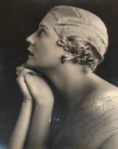 Lilyan Tashman was a Ziegfeld girl, silent film actress and a model, from the late 1910s until the early 1930s.