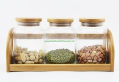 http://www.bambookitchenware.net/ Bamboo glass kitchen canister, kitchen jars, we offer eco solution for your kitchen