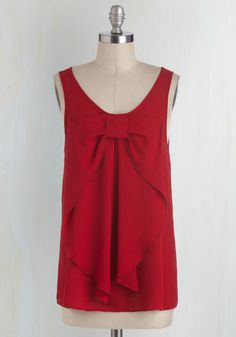 Holiday Party Style - Hello, Bow! Top in Red