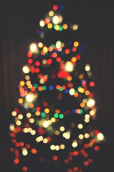 Bokeh. Christmas Lights.
