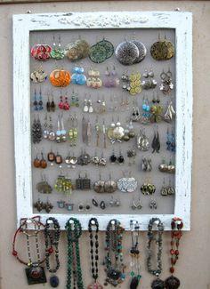 Shabby Chic Plastic Canvas DIY Jewelry Organizer Diy jewelry