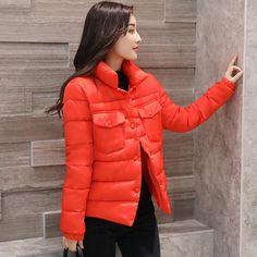 2017 зимняя куртка пальто женщин хлопка Базовая куртка Мягкий тонкий теплые парки стенд Куртка с воротником Женская Осенняя верхняя одежда купить на AliExpress