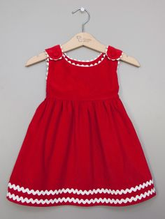 Corduroy Rickrack Dress by Princess Linens at Gilt