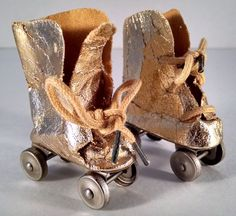 Gold Doll Roller Skates Terri Lee Maybe Really Neat Vintage Accessory VTG