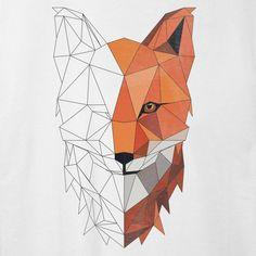 Geschenk Art low poly origami tiere aus dreiecken Dreieck Fuchs Geschenkidee Kunst falten Papier Polygon kreativ Low Poly, Fox Man, Polygon Art, Types Of Printing, Beautiful Artwork, Fabric Weights, Create Yourself, Great Gifts, Sketches