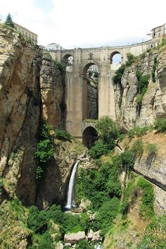 """See 912 photos from 7564 visitors about scenic views, canyon, and city in spain. """"Much more to C than just a bridge & view. Well worth stoping from. Ronda Spain, Roadtrip, Belle Photo, Wonders Of The World, Mount Rushmore, Beautiful Places, Amazing Places, Places To Go, Waterfall"""