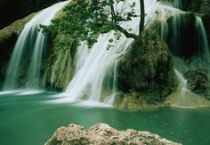 Turner Falls in Davis, Oklahome~ ends after 77 feet ub a natural pool, where swimmers cool off.  Courtesy of AARP.  This is supposed to be easy to drive to.